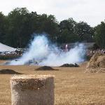The WW2 re-enactment battle.