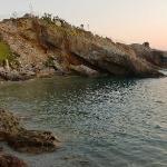 Parte della spiaggia