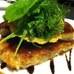 """14.Pan-fried Duck Foie Gras Escalope - with risotto """"al salto"""" with full flavored truffle sauce"""