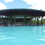 pool bar with infinity pool