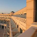 balcons de l'hôtel