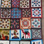 Applique in Aswan market
