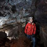 Caving in old lava caves