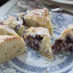 Lavendar blueberry scones - yum!