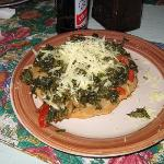 Sonias son makes us a callaloo za.  Mmmmm delicioso