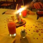 dinner by candle light!