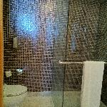 Shower, no hot water as promised. Toilet is clean, safe to enjoy your moments there.