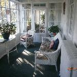 The cozy front porch