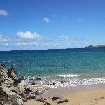 The neighboring beach