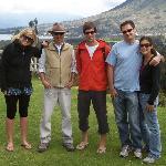 San Pablo lake and Imbabura volcano