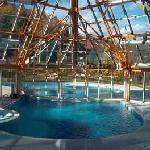 the pool: half inside - falf outside