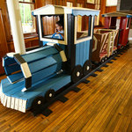 Climb-on train in Playhouse