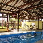 heated inside pool and gym