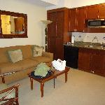 lounge/half kitchen