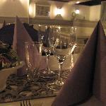 Middags bild från restaurangen