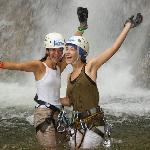 After rapelling a waterfall...