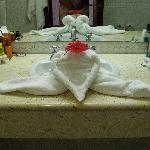 towel art done by our maid