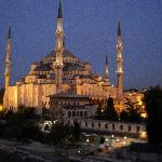 Blue Mosque at 6:15 AM from the roof restaurant