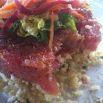 Tuna tartare app at Azur ocean side restaurant