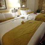 Our room with two queen beds.