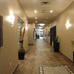 Modern hallways at the front of the hotel.