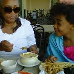 Desi and Gran Oh that Onion Soup so Good!