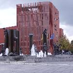 Water fountains with Concert Hall behind