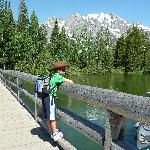 At the south end of Jenny Lake. Beginning our hike.
