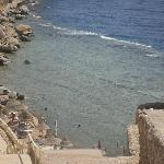The cliff/beach