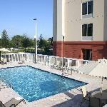Take a relaxing dip in our large outdoor pool - Hampton Inn Leesburg