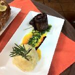 skirt steak with mofongo de yuca