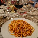 Pasta and a glass of red