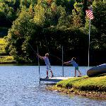 Fishing at Hope Lake