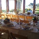 dining room set for wedding dinner