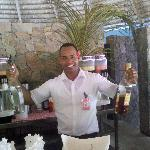Willy from the pool bar makes the best drinks in the whole place.