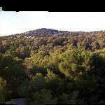The view from our room. The med to the left