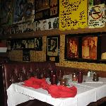 More booths and menu on wall