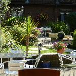 The courtyard was lovely for our guests