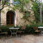 the patio in front of El Moli restaurant