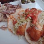 Fish tacos at Hyatt outdoor restaurant