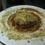 vitello al gorgonzola miele e pistacchio