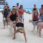 Beach Olympics - Wheel Barrow Race