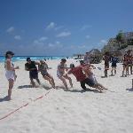 Beach Olympics - Tug A War