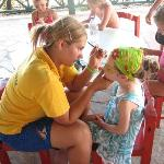 Face-painting in the mini-club