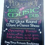 Poster in the Merry Ploughboy Irish Music Pub