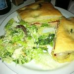 chicken panini & Cesar salad