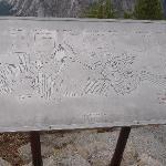 Signpost identifying landmarks