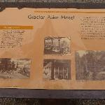 History of Glacier Point Sign