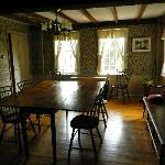 The tavern room where the early militia met to discuss and plan their defense against the Brits.