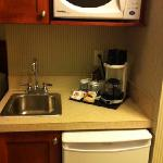 convenient kitchenette